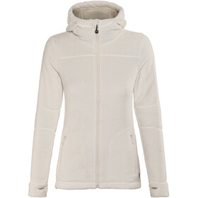 Meru Nunavut Hooded Teddy Fleece Jacket Women Marshmallow